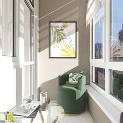 Balcony by Мастерская интерьера Юлии Шевелевой, Eclectic