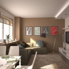 Diseños de Imagen: Salas / recibidores de estilo  por Company Yei