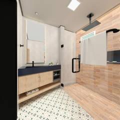 PROJETOS : Banheiros  por Taís Fernández - Designer de Interiores