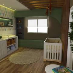 غرف الرضع تنفيذ Taís Fernández - Designer de Interiores