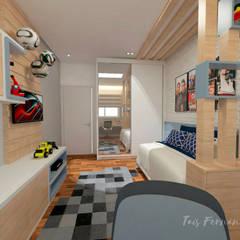 PROJETOS : Quartos de adolescente  por Taís Fernández - Designer de Interiores