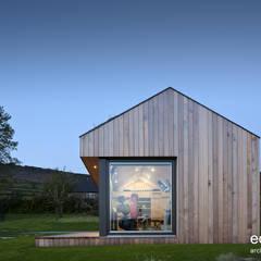 Una palestra ecologica immersa nel verde Palestra in stile moderno di Ecospace Italia srl Moderno Legno Effetto legno