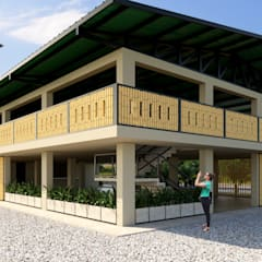 Villa de style  par Taller 3M Arquitectura & Construcción