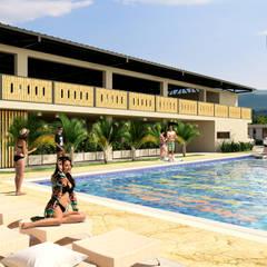مسبح حديقة تنفيذ Taller 3M Arquitectura & Construcción