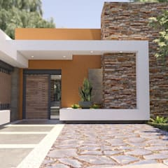 獨棟房 by URBAO Arquitectos, 現代風 水泥