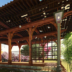 Jardines zen de estilo  por PIXANI STUDIOS