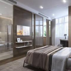 ХАРИЗМА ЛИДЕРА: Спальни в . Автор – GLAZOV design group концептуальная студия дизайна интерьеров