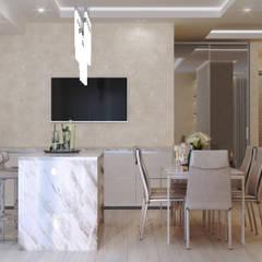 Утренний бриз: Столовые комнаты в . Автор – GLAZOV design group концептуальная студия дизайна интерьеров