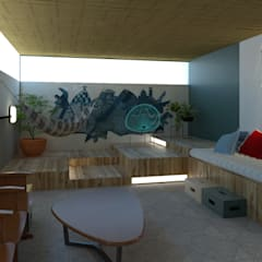 Balcón de estilo  por Quatro Fatorial Arquitetura e Urbanismo