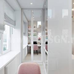 غرفة نوم بنات تنفيذ Дизайн студия 'Дизайнер интерьера № 1',