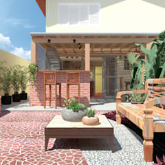 Balcony by Quatro Fatorial Arquitetura e Urbanismo