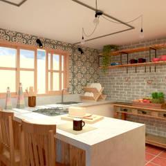 Espaço de Lazer Cozinhas rústicas por Quatro Fatorial Arquitetura e Urbanismo Rústico