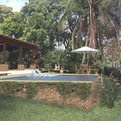 Piscina Rio Bonito: Piscinas  por Quatro Fatorial Arquitetura e Urbanismo