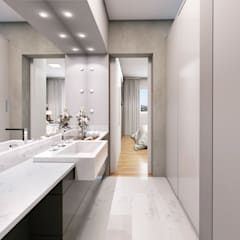 APARTAMENTO LH&F: Banheiros  por Lozí - Projeto e Obra