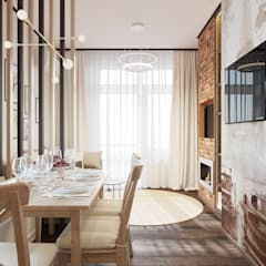 Cocinas pequeñas de estilo  por L.E.DESIGNINTERIOR