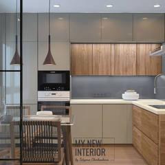 مطبخ ذو قطع مدمجة تنفيذ Татьяна Черкашина | My New Interior,