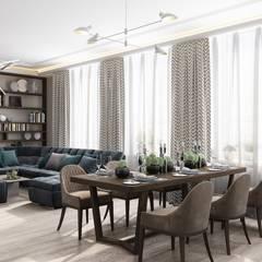 СЕРО-БЕЖЕВОЕ НАСТРОЕНИЕ: Столовые комнаты в . Автор – Дизайн студия Алёны Чекалиной