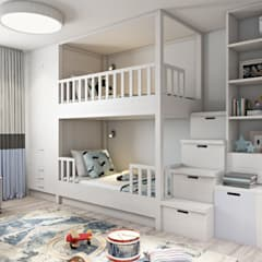 Nursery/kid's room by Дизайн студия Алёны Чекалиной,