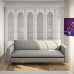 Closet e zona de TV: Closets  por Alma Braguesa Furniture