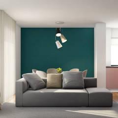 Apartamento Flamingo Salas de estar escandinavas por Alma Braguesa Furniture Escandinavo