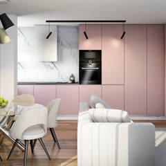 Apartamento Flamingo: Armários de cozinha  por Alma Braguesa Furniture