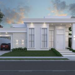 3D: Casas familiares  por Arquitetura Maristela Fedrizzi ,Clássico