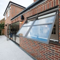 Basement windows by IQ Glass UK, Industrial Aluminium/Zinc