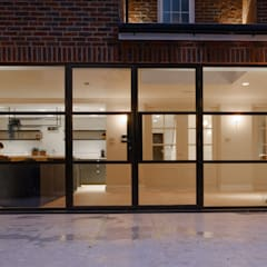 Elgood Avenue:  Glass doors by IQ Glass UK, Industrial Aluminium/Zinc