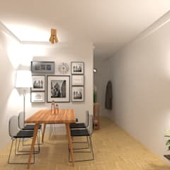Diseño de Interiores de Living Comedor - Olivos: Comedores de estilo  por Arquimundo 3g - Diseño de Interiores - Ciudad de Buenos Aires