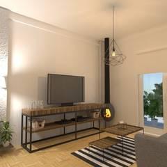 Diseño de Interiores de Living Comedor - Olivos: Livings de estilo  por Arquimundo 3g - Diseño de Interiores - Ciudad de Buenos Aires