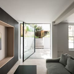 The Bevel Extension:  Glass doors by IQ Glass UK