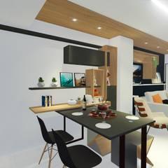 Comedores de estilo moderno de Sônia Beltrão Arquitetura Moderno Madera Acabado en madera