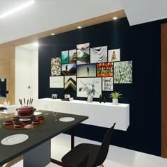 Comedores de estilo moderno de Sônia Beltrão Arquitetura Moderno Tablero DM