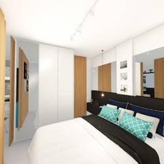 Kleines Schlafzimmer von Sônia Beltrão Arquitetura
