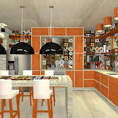 Small kitchens by Pedro Ivo Fernandes | Arquiteto e Urbanista, Country
