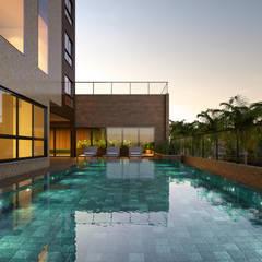 Edifício Royal: Piscinas de jardim  por Triple Arquitetura Inteligente
