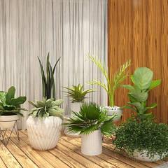 HOME LIVING DINNING & LOUNG: Jardins de inverno  por Pedro Ivo Fernandes   Arquiteto e Urbanista