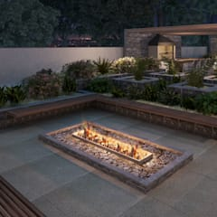 Terrace by Triple Arquitetura Inteligente, Rustic