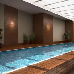 Edifício Residencial Win: Piscinas de jardim  por Triple Arquitetura Inteligente