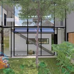 Vista jardim: Jardins de inverno  por Studio Santoro Arquitetura