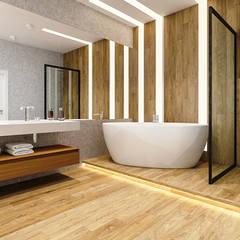 Paragon: Ванные комнаты в . Автор – pashchak design