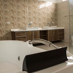 Casa gino, valle verde jamundi: Baños de estilo  por Am arquitectura