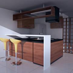 Casa prados del norte,cali: Cocinas de estilo  por Am arquitectura