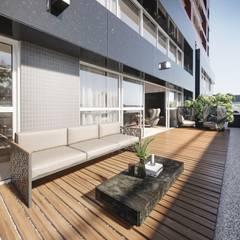 Balcón de estilo  por Triple Arquitetura Inteligente