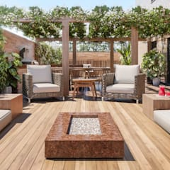 Terrace by Triple Arquitetura Inteligente, Rustic