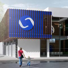 logistic solution,cali: Espacios comerciales de estilo  por Am arquitectura