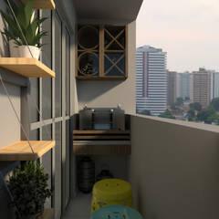 Balkon door L.R. ARQUITETURA| OBRAS| INTERIORES