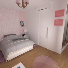 Residência Aldeia da Serra: Quartos de adolescente  por L.R. ARQUITETURA| OBRAS| INTERIORES