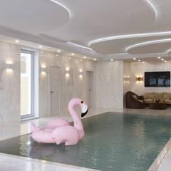 Частный дом с бассейном: Бассейн в . Автор – ЭлитДизайн - студия интерьера