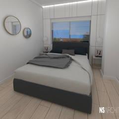 Vivienda promocional. Diseño e imagenes promocionales. : Dormitorios pequeños de estilo  de Ns Architect